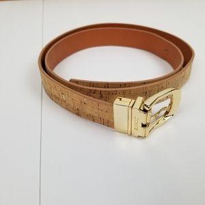 J Crew reversible belt 46 in cork/brown leather